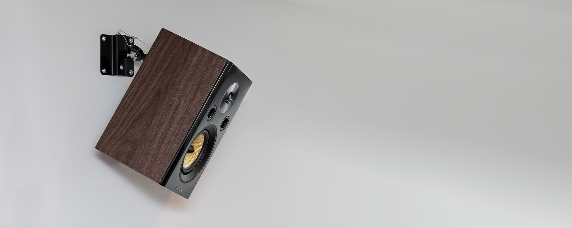 Metal Bookshelf & Satellite Speaker Adjustable Mounts - Lifestyle Desktop