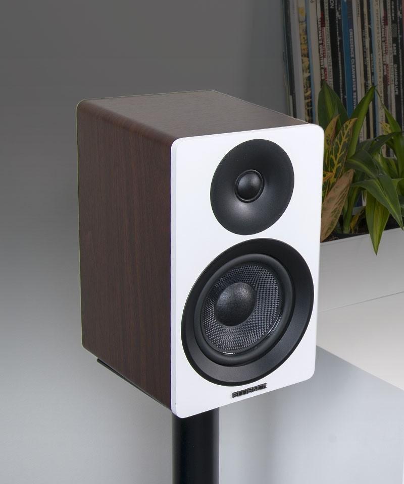 "Ai40WW Powered 5"" Bookshelf Speakers - Desktop Lifestyle"