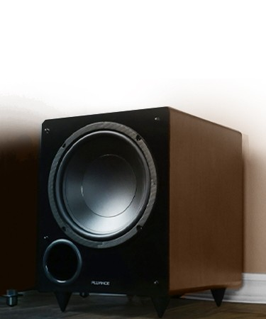 DB10 Walnut 10-inch Low Frequency Powered Subwoofer - Lifestyle