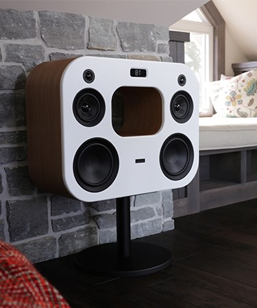 Fi70 Bamboo Three-Way Wireless High Fidelity Music System - Lifestyle