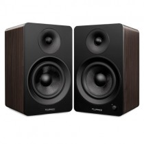 "Ai60B Powered 6.5"" High Performance Bookshelf Speakers - Black & Walnut - Main 2"