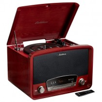 Kingston 7-in-1 Vinyl Record Player - Main Cherry
