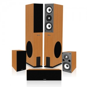 Fluance SVHTB High-Fidelity Surround Sound Home Theater Speaker System