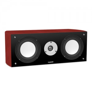 Fluance XL7C-DW two-way center channel speaker dark walnut