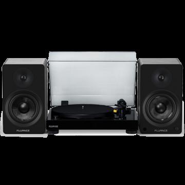 "RT80 Classic High Fidelity Vinyl Turntable with Ai61 Powered 6.5"" Bookshelf Speakers"