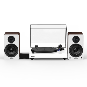 """Reference RT84 High Fidelity Vinyl Turntable with PA10 Phono Preamp and Ai41 Powered 5"""" Stereo Bookshelf Speakers"""
