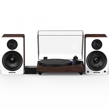 "Reference RT84 High Fidelity Vinyl Turntable with PA10 Phono Preamp and Ai60 6.5"" Powered Bookshelf Speakers"