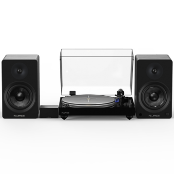 "Reference RT85 High Fidelity Vinyl Turntable with PA10 Phono Preamp and Ai61 Powered 6.5"" Stereo Bookshelf Speakers"