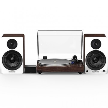 "Reference RT85 High Fidelity Vinyl Turntable with PA10 Phono Preamp and Ai60 6.5"" Powered Bookshelf Speakers"
