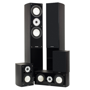 High Performance 5 Speaker Surround Sound Home Theater System - Dark Walnut
