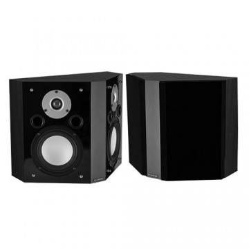 XLBP Wide Dispersion Bipolar Surround Sound Speakers (pair) - Black Ash