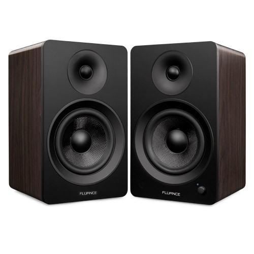 "Ai60B Powered 6.5"" High Performance Bookshelf Speakers - Black & Walnut - Main 2"