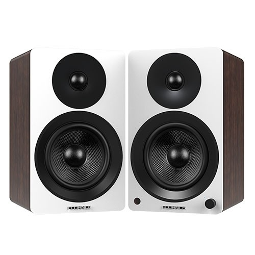 "Ai60WW Powered 6.5"" High Performance Bookshelf Speakers - White Walnut - Main 2"