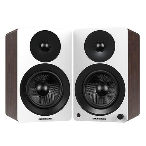 "Ai60WW Powered 6.5"" High Performance Bookshelf Speakers - White Walnut - Main 2"