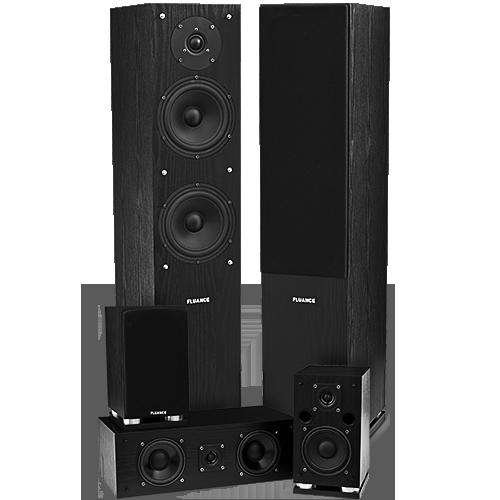 Fluance SXHTB-BK Black Ash Surround Sound Speaker System Alternate
