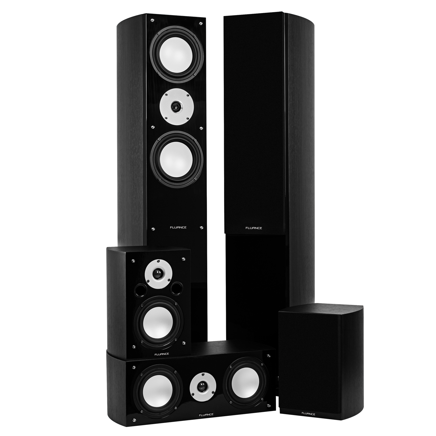 Fluance XLHTBBK Black Ash Home Theater Speaker System Main