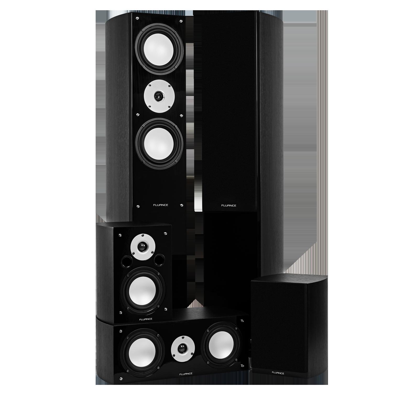 Fluance XLHTBBK Black Ash Home Theater Speaker System Main