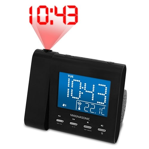 "Alarm clock with 3.6"" display"