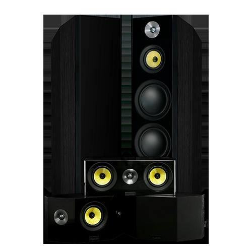 Signature Series Hi-Fi 5.0 Home Theater Speaker System with Bipolar Speakers