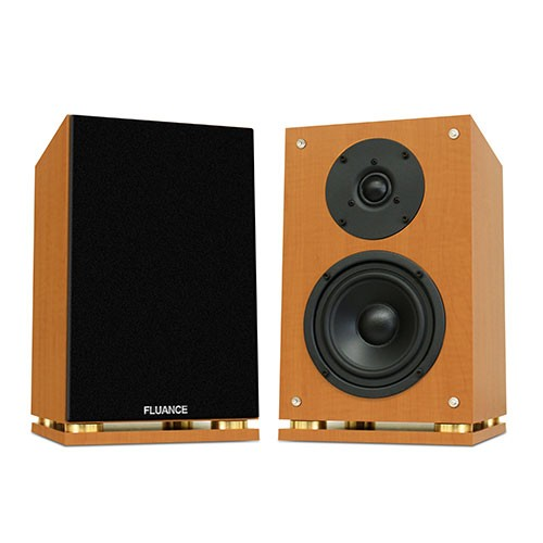 Fluance SX6 Bookshelf Speakers in Beech