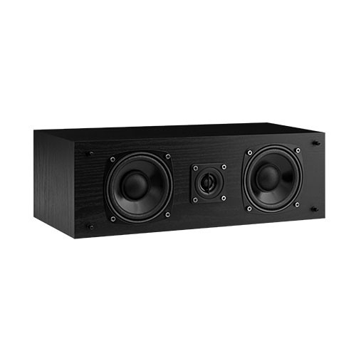 Fluance SXC two-way center channel speaker black ash