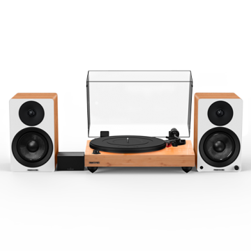 """Reference RT83 High Fidelity Vinyl Turntable with PA10 Phono Preamp and Ai41 Powered 5"""" Stereo Bookshelf Speakers"""