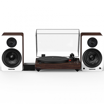 "Reference RT83 High Fidelity Vinyl Turntable with PA10 Phono Preamp and Ai60 6.5"" Powered Bookshelf Speakers"