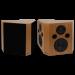 Fluance tan beech SXBP bipolar surround sound speakers