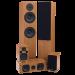 Fluance SXHTB Beech Home Theater Surround Sound System - Beech