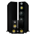 Fluance HFHTB Black Ash Home Theater Speaker System Alternate