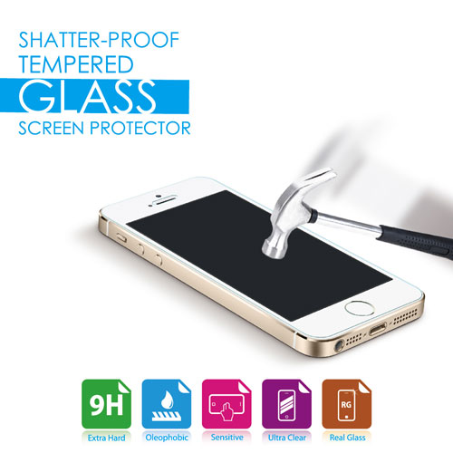 Tempered Glass Screen Protector for _iPhone 5/5s/5c