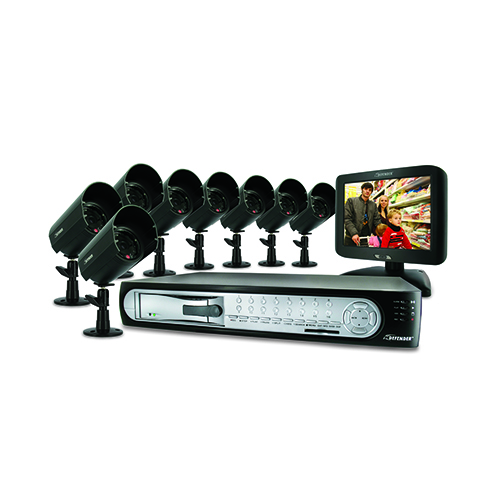 Web Ready 16 Channel DVR Security System with 8 Hi-Res Indoor/Outdoor Night Vision Cameras (SENTINEL3)
