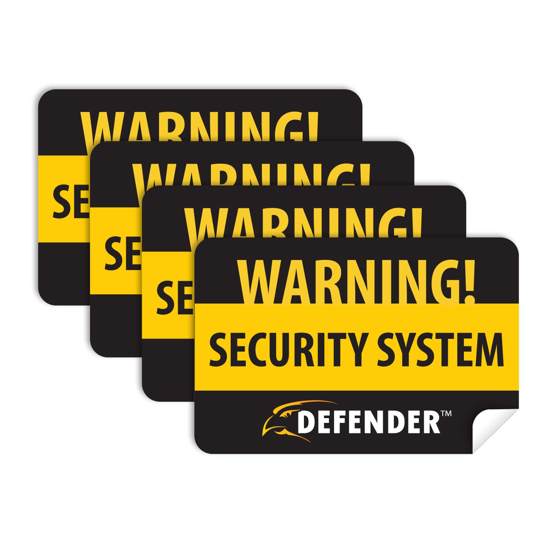 4 Window Warning Stickers