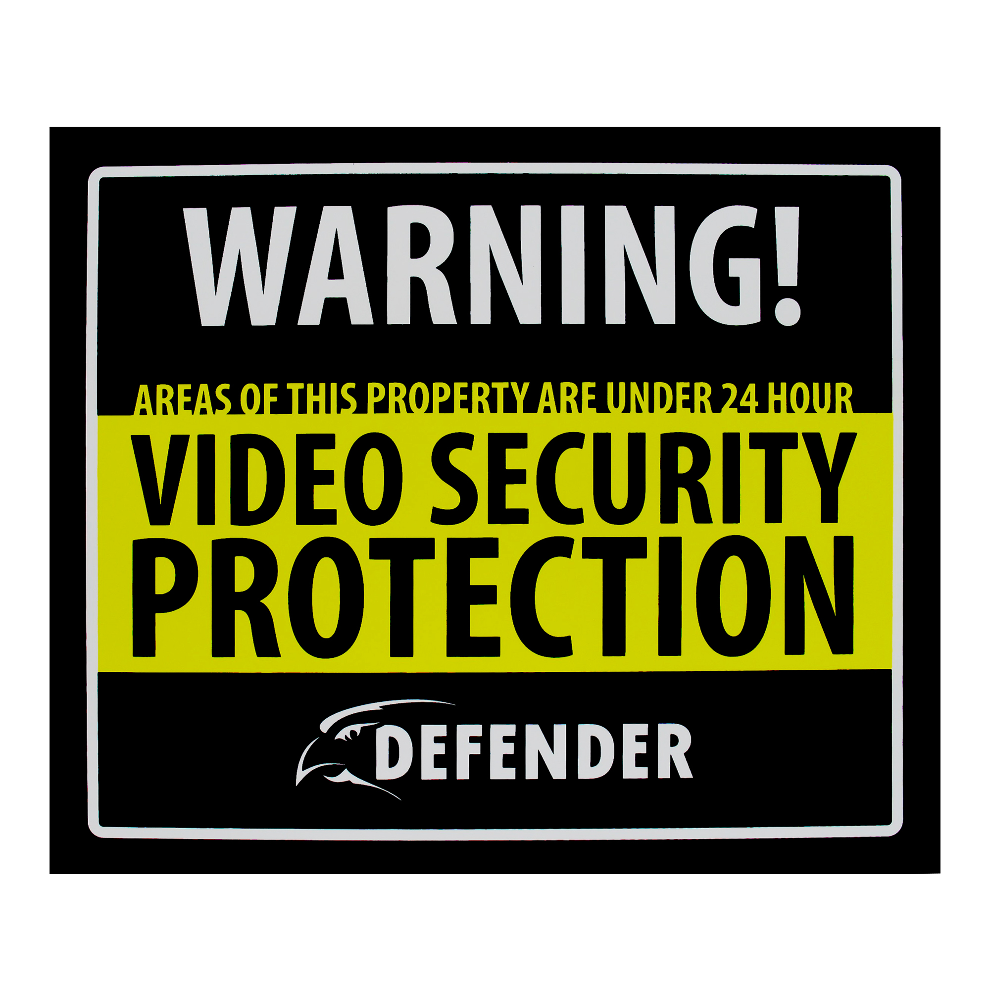 Indoor Security System Warning Sign