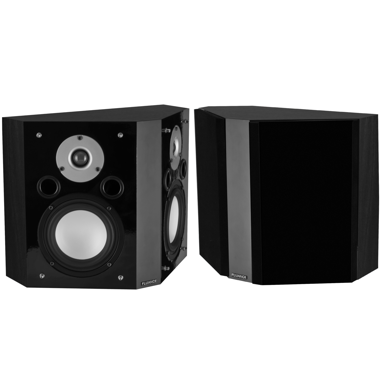 XLBP Wide Dispersion Bipolar Surround Sound Speakers (pair) - Black Ash