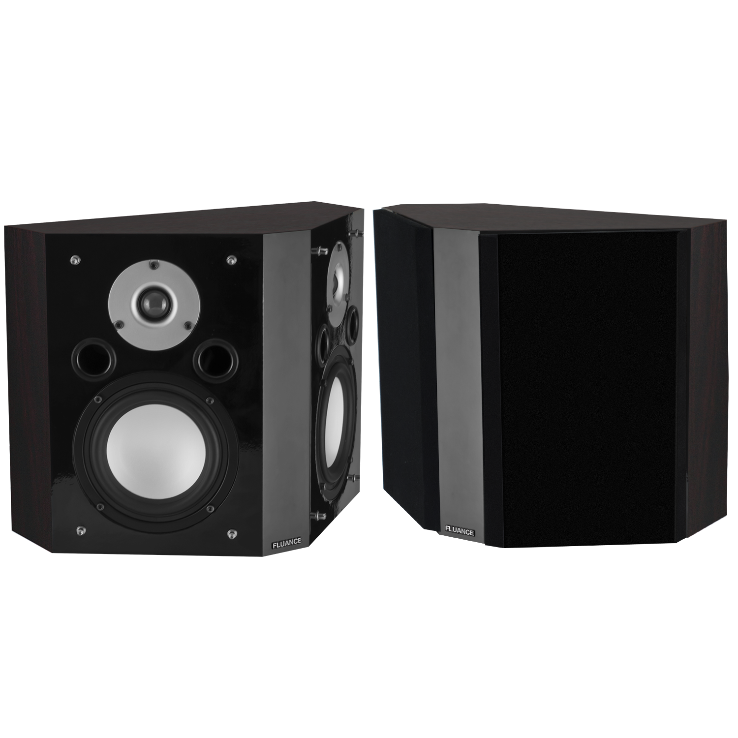 XLBP Wide Dispersion Bipolar Surround Sound Speakers - Dark Walnut (pair)